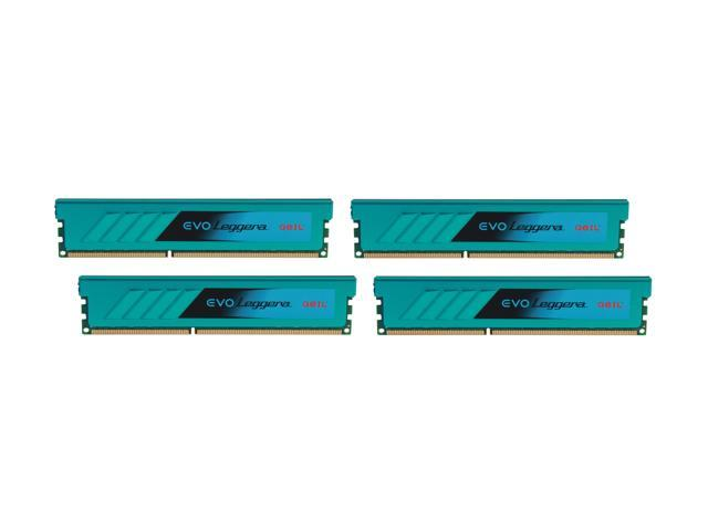 GeIL EVO Leggara Series 32GB (4 x 8GB) 240-Pin DDR3 SDRAM DDR3 1600 (PC3 12800) Desktop Memory Model GEL332GB1600C9QC