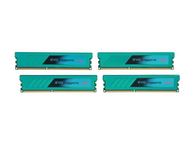 GeIL EVO Leggara Series 16GB (4 x 4GB) 240-Pin DDR3 SDRAM DDR3 2400 (PC3 19200) Desktop Memory Model GEL316GB2400C11AQC