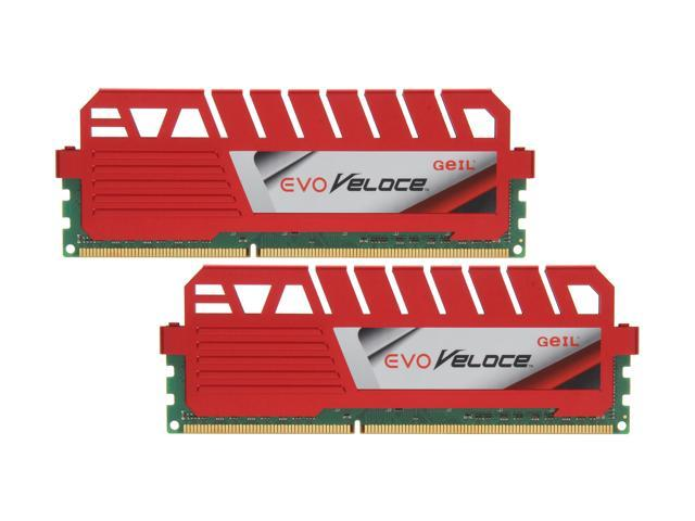 GeIL EVO Veloce Series 16GB (2 x 8GB) 240-Pin DDR3 SDRAM DDR3 1866 (PC3 14900) Desktop Memory Model GEV316GB1866C10DC