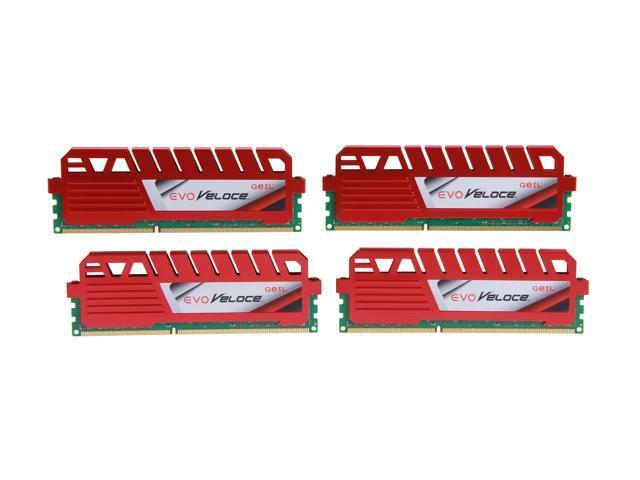 GeIL EVO Veloce Series 32GB (4 x 8GB) 240-Pin DDR3 SDRAM DDR3 1866 (PC3 14900) Desktop Memory Model GEV332GB1866C10QC