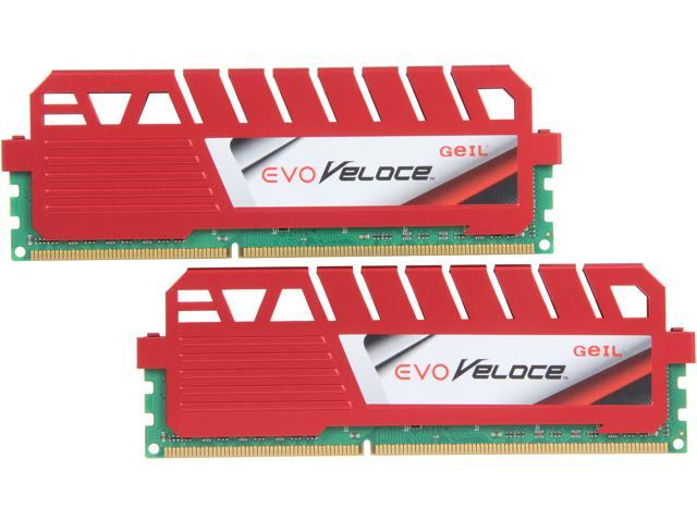 GeIL EVO Veloce Series 8GB (2 x 4GB) 240-Pin DDR3 SDRAM DDR3 1333 (PC3 10660) Desktop Memory Model GEV38GB1333C9DC