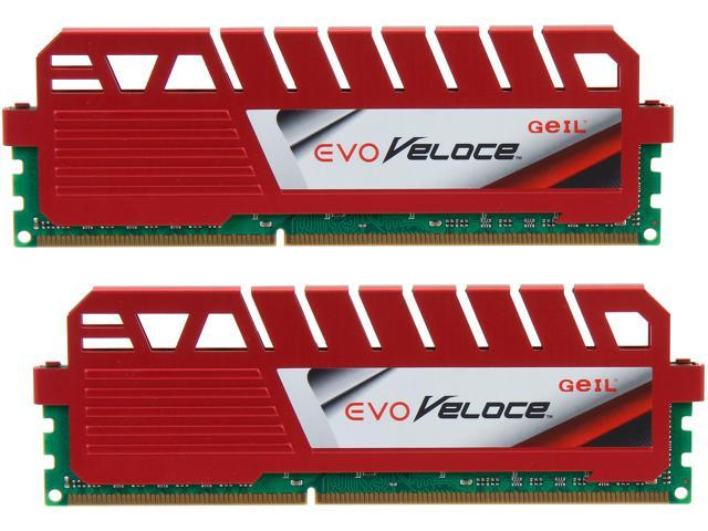 GeIL EVO Veloce Series 8GB (2 x 4GB) 240-Pin DDR3 SDRAM DDR3 2133 (PC3 17000) Desktop Memory Model GEV38GB2133C10ADC
