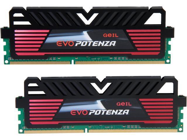 GeIL EVO POTENZA 8GB (2 x 4GB) 240-Pin DDR3 SDRAM DDR3 2133 (PC3 17000) Desktop Memory Model GPB38GB2133C11DC