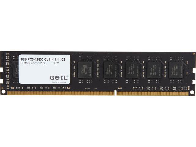 GeIL DRAGON 8GB 240-Pin DDR3 SDRAM DDR3 1600 (PC3 12800) Desktop Memory Model GD38GB1600C11SC