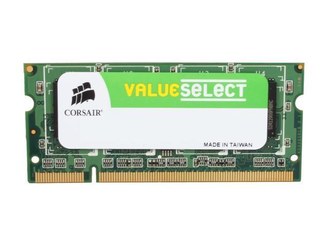 CORSAIR 1GB 200-Pin DDR2 SO-DIMM DDR2 667 (PC2 5300) Laptop Memory Model VS1GSDS667D2