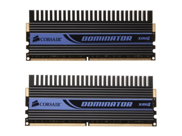 CORSAIR Dominator 2GB (2 x 1GB) 240-Pin DDR2 SDRAM DDR2 1142 (PC2 9136) Dual Channel Kit Desktop Memory Model TWIN2X2048-9136C5D