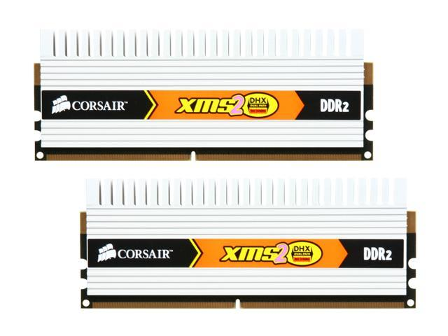 CORSAIR XMS2 2GB (2 x 1GB) 240-Pin DDR2 SDRAM DDR2 800 (PC2 6400) Dual Channel Kit Desktop Memory Model TWIN2X2048-6400C4DHX