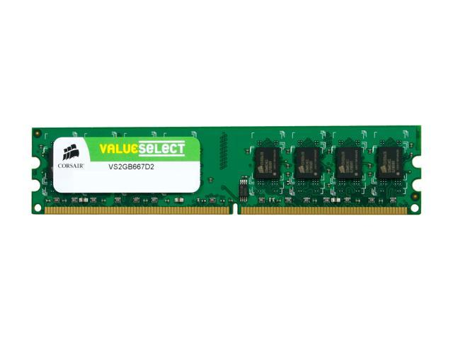 CORSAIR 2GB 240-Pin DDR2 SDRAM DDR2 667 (PC2 5300) Desktop Memory Model VS2GB667D2