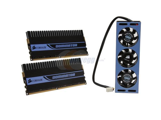 CORSAIR DOMINATOR 4GB (2 x 2GB) 240-Pin DDR2 SDRAM DDR2 1142 (PC2 9136) Dual Channel Kit Desktop Memory Model TWIN2X4096-9136C5DF