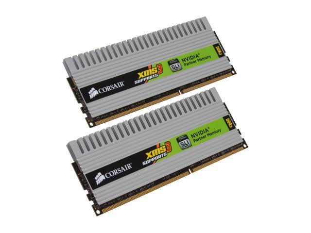 CORSAIR XMS3 DHX 4GB (2 x 2GB) 240-Pin DDR3 SDRAM DDR3 1600 (PC3 12800) Dual Channel Kit Desktop Memory Model TW3X4G1600C9DHXNV