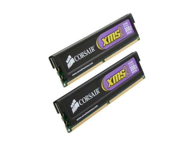 CORSAIR XMS2 4GB (2 x 2GB) 240-Pin DDR2 SDRAM DDR2 1066 (PC2 8500) Dual Channel Kit Desktop Memory Model TWIN2X4096-8500C5