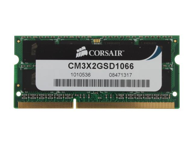 CORSAIR ValueSelect 2GB 204-Pin DDR3 SO-DIMM DDR3 1066 (PC3 8500) Laptop Memory Model CM3X2GSD1066