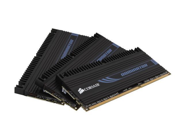 CORSAIR DOMINATOR 6GB (3 x 2GB) 240-Pin DDR3 SDRAM DDR3 1866 (PC3 15000) Triple Channel Kit Desktop Memory Model TR3X6G1866C9DF
