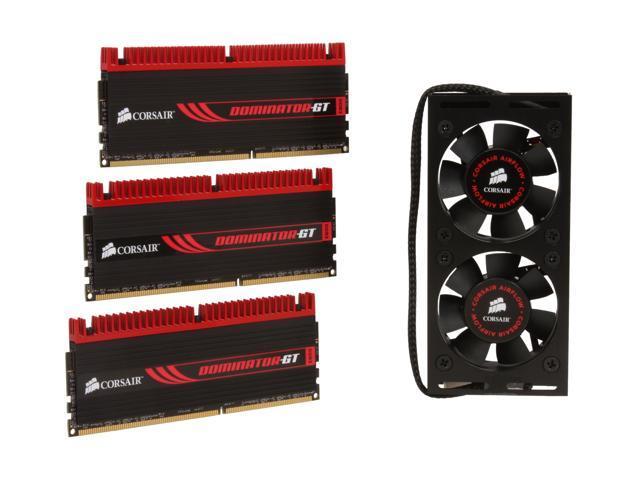 CORSAIR Dominator GT 6GB (3 x 2GB) 240-Pin DDR3 SDRAM DDR3 2000 (PC3 16000) Triple Channel Kit Desktop Memory Model TR3X6G2000C8GTF ...