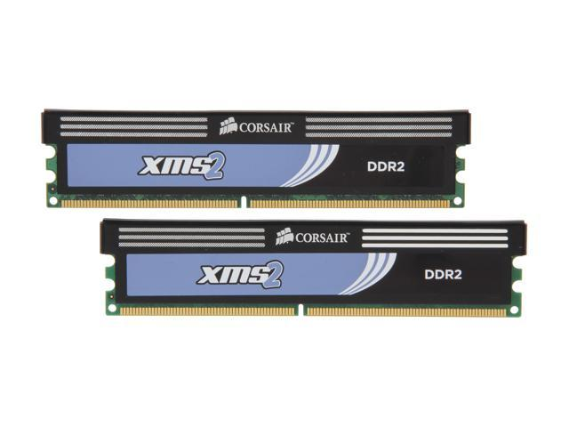CORSAIR XMS2 4GB (2 x 2GB) 240-Pin DDR2 SDRAM DDR2 800 (PC2 6400) Desktop Memory Model TWIN2X4096-6400C5C