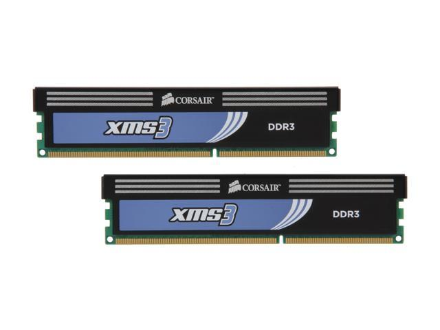 CORSAIR XMS3 4GB (2 x 2GB) 240-Pin DDR3 SDRAM DDR3 1333 (PC3 10666) Desktop Memory Model TW3X4G1333C9A G