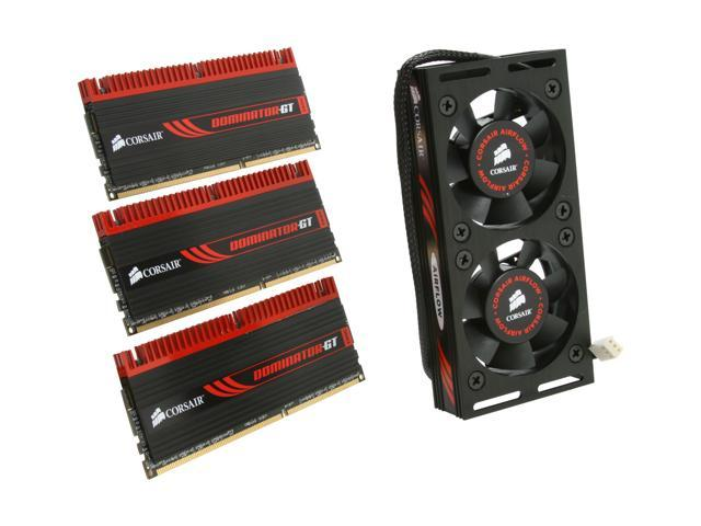 CORSAIR DOMINATOR GT 6GB (3 x 2GB) 240-Pin DDR3 SDRAM DDR3 2000 (PC3 16000) Desktop Memory Model CMG6GX3M3A2000C8