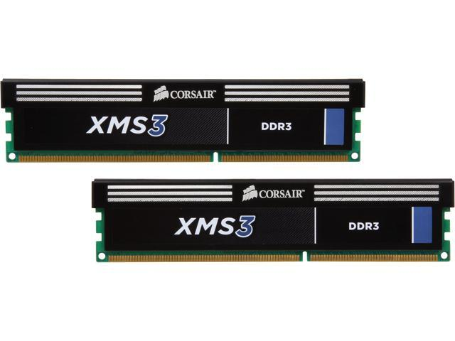CORSAIR XMS3 4GB (2 x 2GB) 240-Pin DDR3 SDRAM DDR3 1600 (PC3 12800) Desktop Memory Model CMX4GX3M2A1600C9