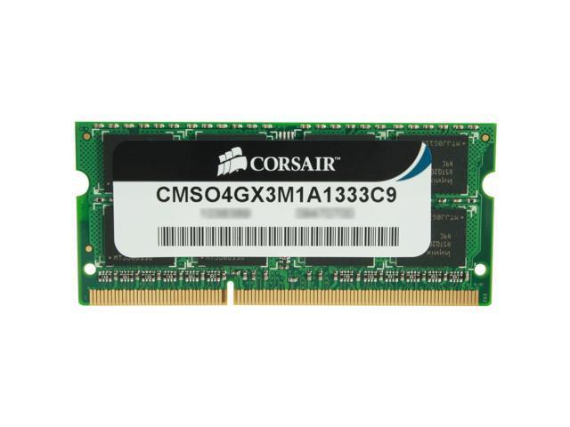 CORSAIR ValueSelect 4GB 204-Pin DDR3 SO-DIMM DDR3 1333 (PC3 10600) Laptop Memory Model CMSO4GX3M1A1333C9