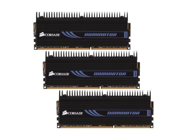 CORSAIR DOMINATOR 6GB (3 x 2GB) 240-Pin DDR3 SDRAM DDR3 1600 (PC3 12800) Desktop Memory Model CMP6GX3M3A1600C8