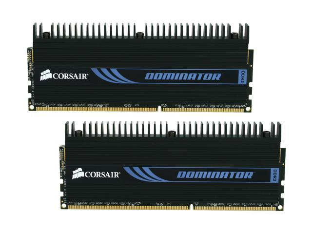 CORSAIR DOMINATOR 8GB (2 x 4GB) 240-Pin DDR3 SDRAM DDR3 1600 (PC3 12800) Desktop Memory Model CMP8GX3M2A1600C9