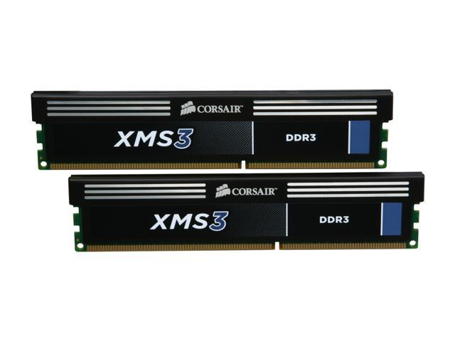 CORSAIR XMS3 8GB (2 x 4GB) 240-Pin DDR3 SDRAM DDR3 1333 (PC3 10600) Desktop Memory Model CMX8GX3M2A1333C9