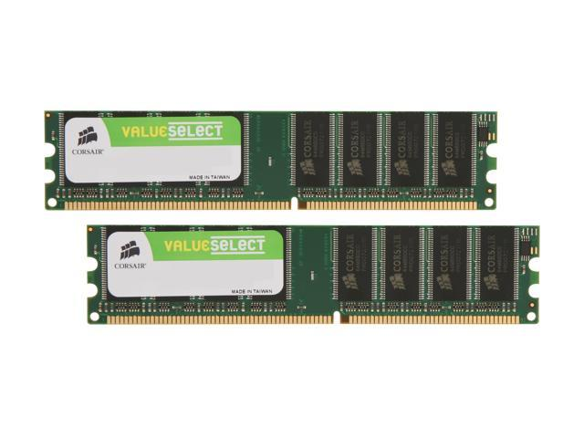 CORSAIR 1GB (2 x 512MB) 184-Pin DDR SDRAM DDR 400 (PC 3200) Dual Channel Kit Desktop Memory Model VS1GBKIT400