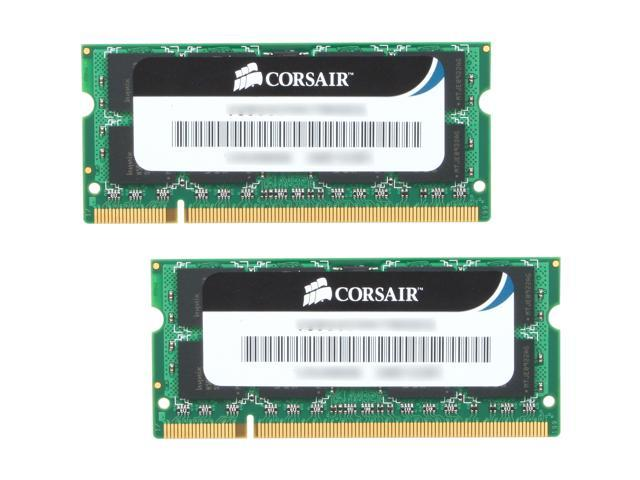 CORSAIR 8GB (2 x 4GB) 200-Pin DDR2 SO-DIMM DDR2 800 (PC2 6400) Laptop Memory Model VS8GSDSKIT800D2