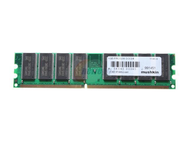 Mushkin Enhanced Proline 1GB 184-Pin DDR SDRAM DDR 400 (PC 3200) System Memory Model 991451