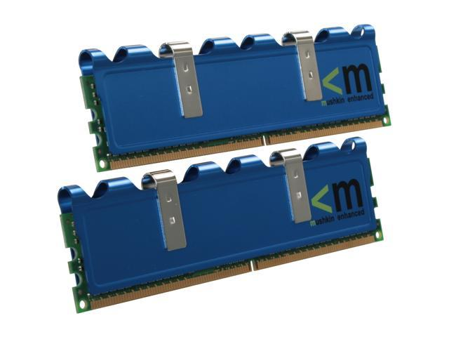 Mushkin Enhanced Blackline 2GB (2 x 1GB) 240-Pin DDR2 SDRAM DDR2 667 (PC2 5300) Dual Channel Kit Desktop Memory Model 996521