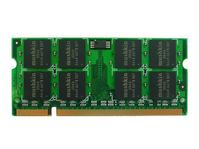 Mushkin Enhanced Essentials 1GB 200-Pin DDR2 SO-DIMM DDR2 667 (PC2 5300) Laptop Memory Model 991504