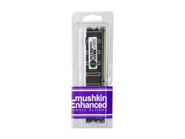 Mushkin Enhanced 512MB 184-Pin DDR SDRAM DDR 333 (PC 2700) Desktop Memory Model 990962