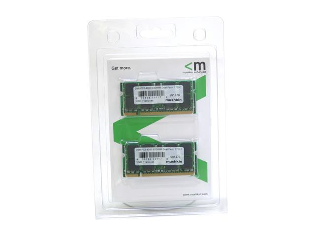 Mushkin Enhanced 2GB (2 x 1GB) 200-Pin DDR2 SO-DIMM DDR2 533 (PC2 4200) Dual Channel Kit Laptop Memory Model 991479