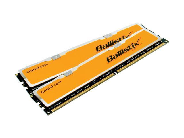 Crucial Ballistix 2GB (2 x 1GB) 240-Pin DDR2 SDRAM DDR2 1000 (PC2 8000) Dual Channel Kit Desktop Memory Model BL2KIT12864AA1005
