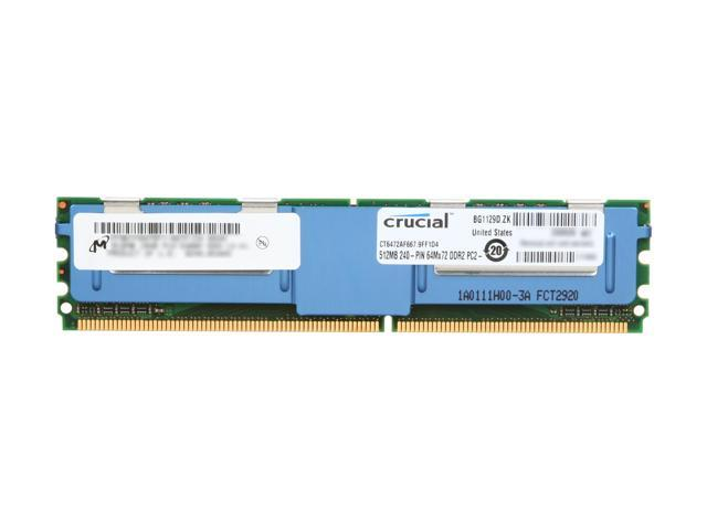 Crucial 512MB ECC Fully Buffered DDR2 667 (PC2 5300) Server Memory Model CT6472AF667