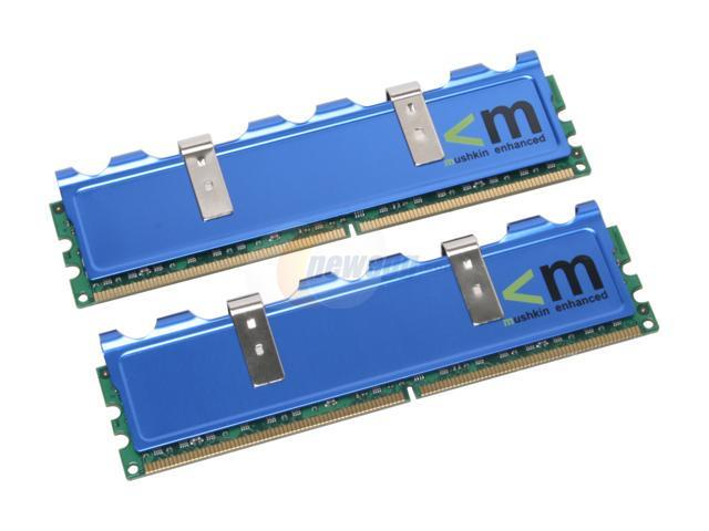 Mushkin Enhanced 2GB (2 x 1GB) 240-Pin DDR2 SDRAM DDR2 1066 (PC2 8500) Dual Channel Kit Desktop Memory Model 996578