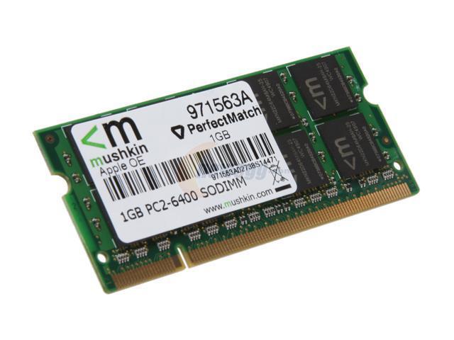 Mushkin Enhanced 1GB 200-Pin DDR2 SO-DIMM DDR2 800 (PC2 6400) Memory For Apple Model 971563a