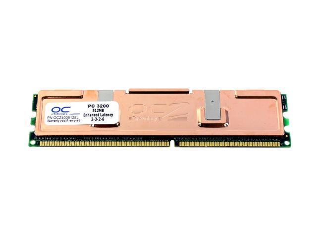 OCZ Enhanced Latency 512MB 184-Pin DDR SDRAM DDR 400 (PC 3200) System Memory Model OCZ400512EL