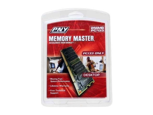 PNY 256MB 168-Pin SDRAM PC 133 Desktop Memory Model 256S133