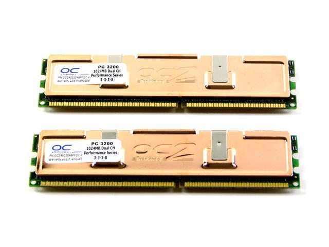 OCZ Performance 2GB (2 x 1GB) 184-Pin DDR SDRAM DDR 400 (PC 3200) Dual Channel Kit Desktop Memory Model OCZ4002048PFDC-K