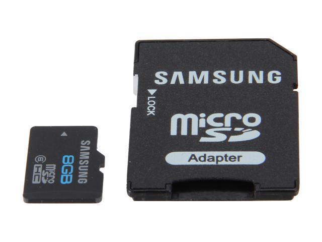 SAMSUNG 8GB microSDHC Flash Card Model MB-MS8GA/US