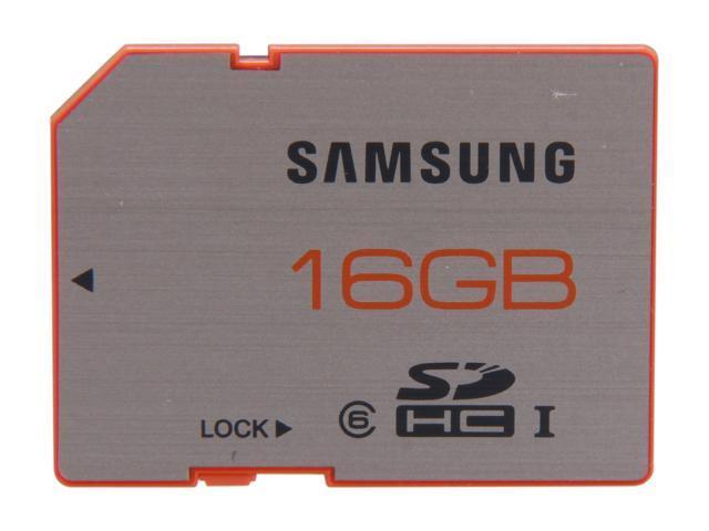 SAMSUNG Plus 16GB Secure Digital High-Capacity (SDHC) Flash Card Model MB-SPAGB/AM