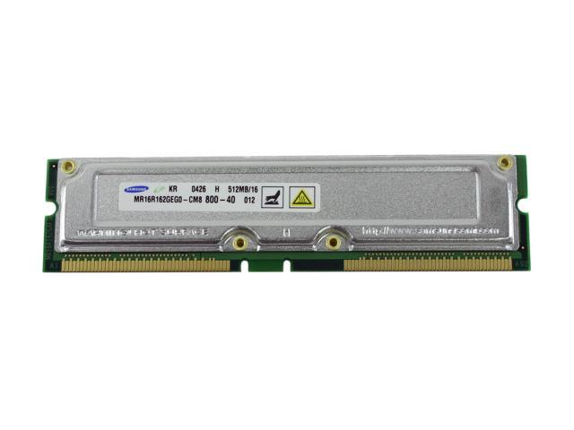 SAMSUNG 512MB 184-Pin RDRAM (16bit) PC 800 System Memory Model MR16R162GEGO-CM8 - OEM