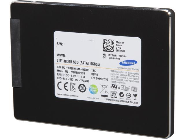 "SAMSUNG SM843 Pro Data Center Series MZ 7PD4800 0D3 2 5"" 480GB SATA"