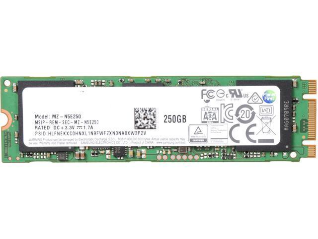 SAMSUNG 850 EVO M.2 2280 250GB SATA III 3D NAND Internal SSD Single Unit