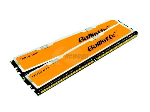 Crucial Ballistix 2GB (2 x 1GB) 184-Pin DDR SDRAM DDR 500 (PC 4000) Dual Channel Kit Desktop Memory Model BL2KIT12864Z503.16T