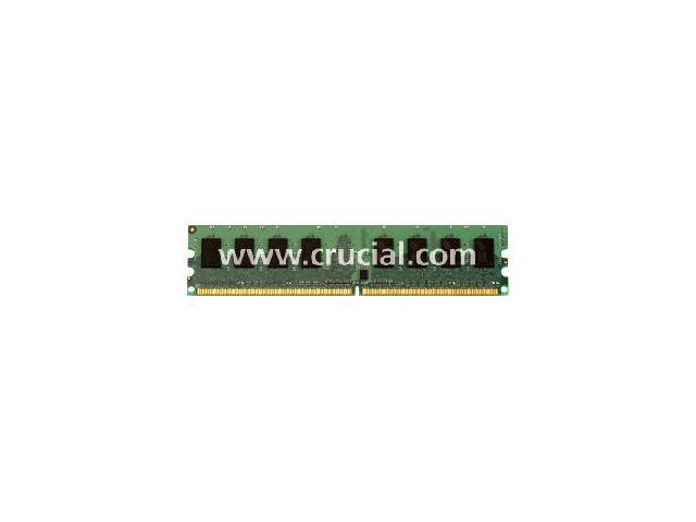 Crucial 4GB (2 x 2GB) 240-Pin DDR2 SDRAM ECC Unbuffered DDR2 667 (PC2 5300) Dual Channel Kit WorkStation Memory Model CT2KIT25672AA667