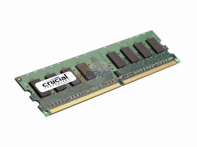 Crucial 1GB 240-Pin DDR2 SDRAM DDR2 800 (PC2 6400) Desktop Memory Model CT12864AA80E.C6