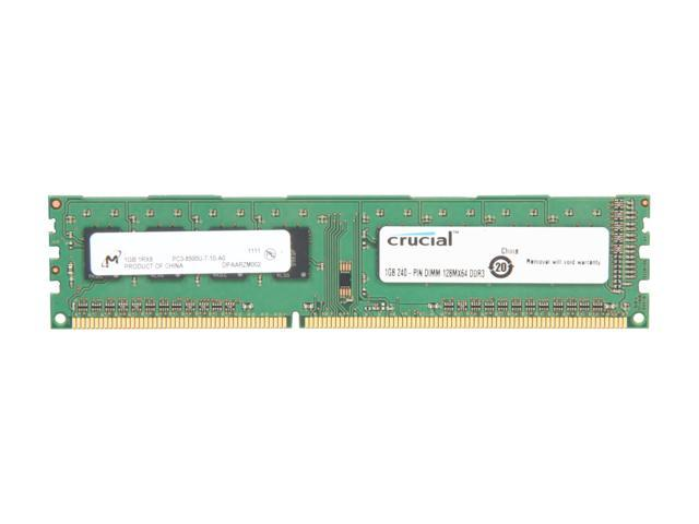Crucial 1GB 240-Pin DDR3 SDRAM DDR3 1066 (PC3 8500) Desktop Memory Model CT12864BA1067
