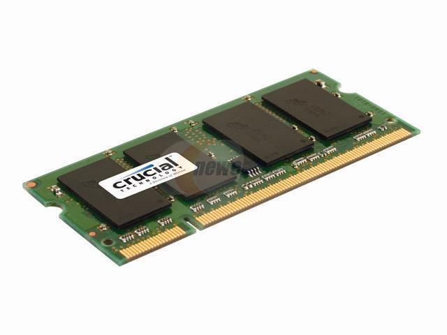Crucial 2GB 200-Pin DDR2 SO-DIMM DDR2 800 (PC2 6400) Laptop Memory Model CT25664AC800